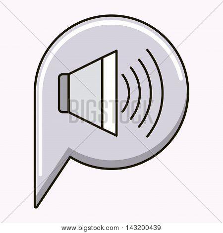 speaker sound isolated icon vector illustration design