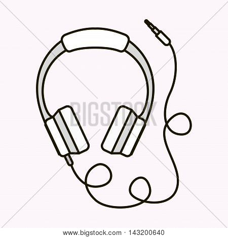 heardhones music sound isolated vector illustration design