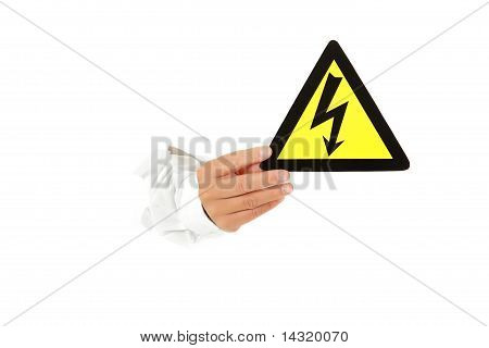 Danger Of Electric Shock, Hand.