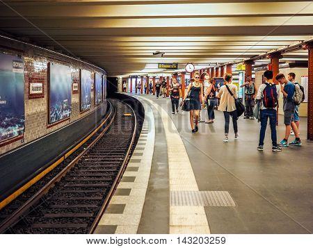 Alexanderplatz Subway Station In Berlin (hdr)