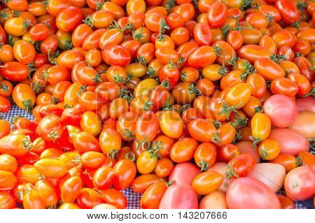 stall of tomatoes at the market of thailand