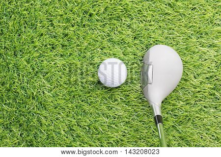 Golf Ball Before Hitting With Golf Club