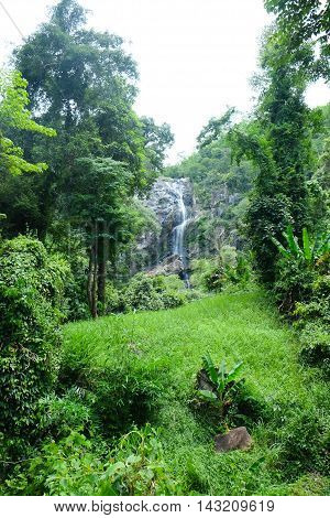 Klonglan waterfall The famous waterfall in Kamphaeng Phet province National Park Thailand
