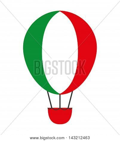 balloon air flying isolated icon vector illustration design
