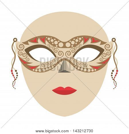 venetian mask isolated icon vector illustration design