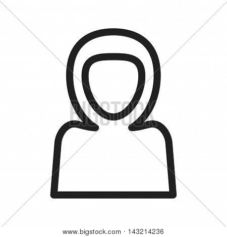 Muslim, woman, praying icon vector image. Can also be used for islamic. Suitable for mobile apps, web apps and print media.