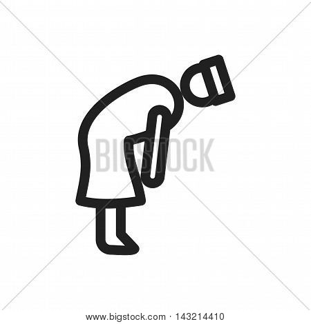Islamic, namaz, rukooh icon vector image. Can also be used for islamic. Suitable for mobile apps, web apps and print media.