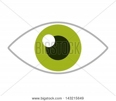 eye human view icon vector isolated graphic