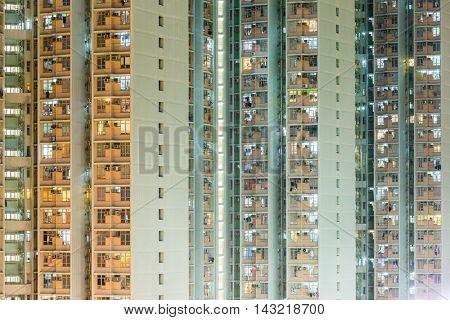 External of building at night