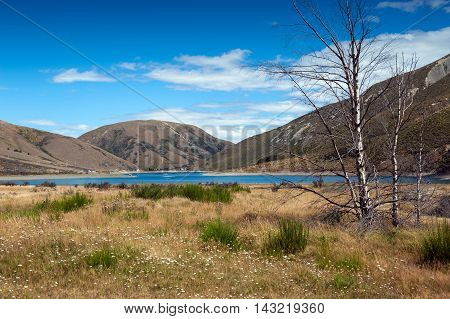 Lake Lyndon, On The Arthurs Pass, Southern Alps, South Island Of New Zealand