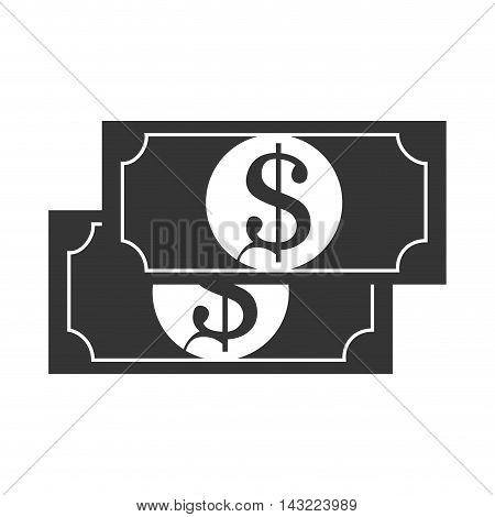 bill money cash economy financial fortune rich bank vector illustration