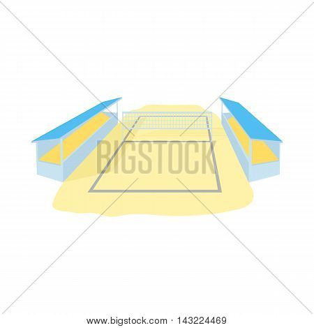 Stadium for volleyball icon in cartoon style isolated on white background. Sport symbol