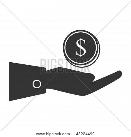 coins money gold  business economy earn stack commerce vector illustration