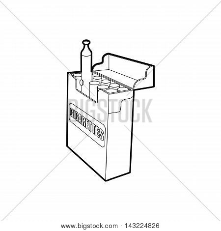 Electronic and normal cigarettes icon in outline style isolated on white background