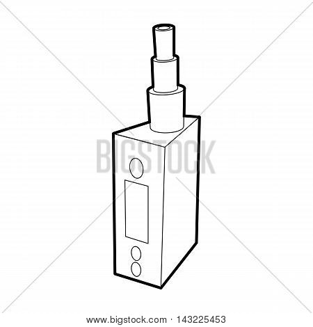 Vape device, juice for vape icon in outline style isolated on white background