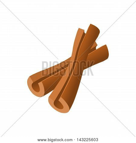 Cinnamon sticks icon in cartoon style isolated on white background. Seasoning symbol