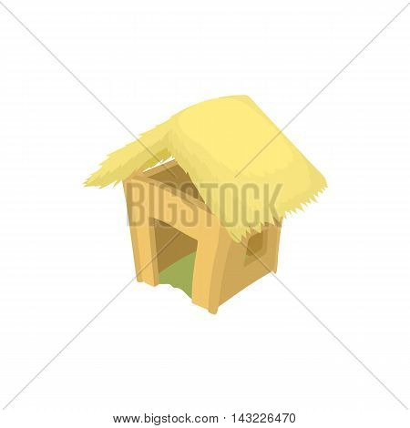 Shack icon in cartoon style isolated on white background. Construction symbol