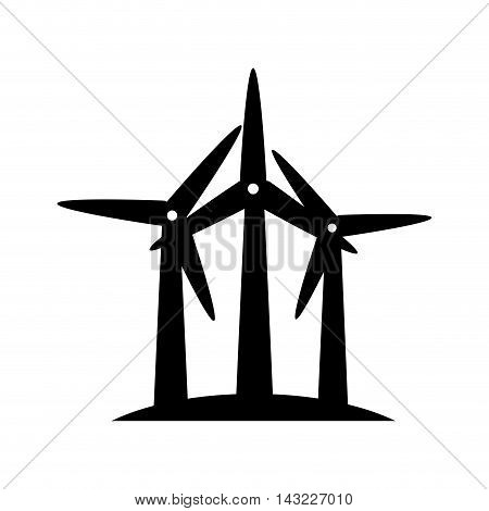 eolic fan wind electricity ecology turbine energy power vector illustration