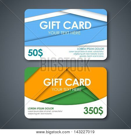 Gift Cards In The Style Of The Material Design