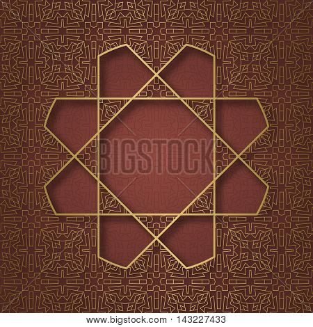 Traditional ornamental background with octagonal mandala form frame