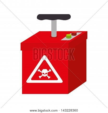 tnt explotion explode bomb box hand dynamite vector illustration