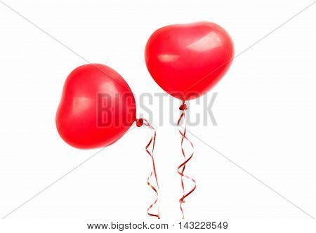 red balloon heart on a white background