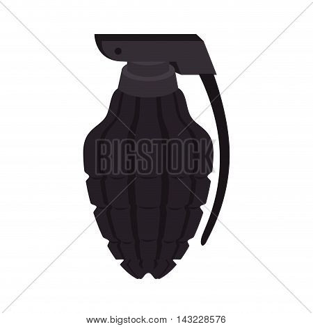 grenade explosive attack bomb danger weapon vector illustration