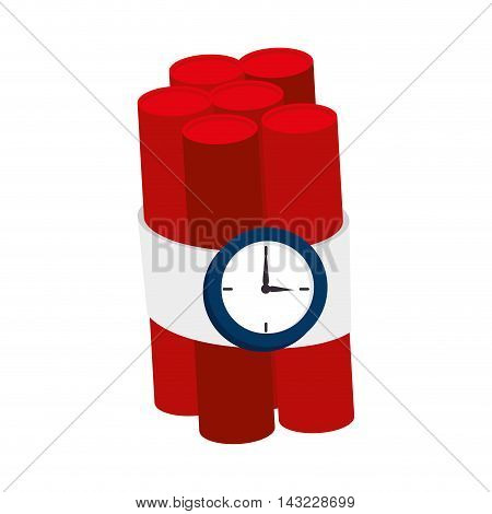 tnt explode dynamite explosion bomb danger vector illustration
