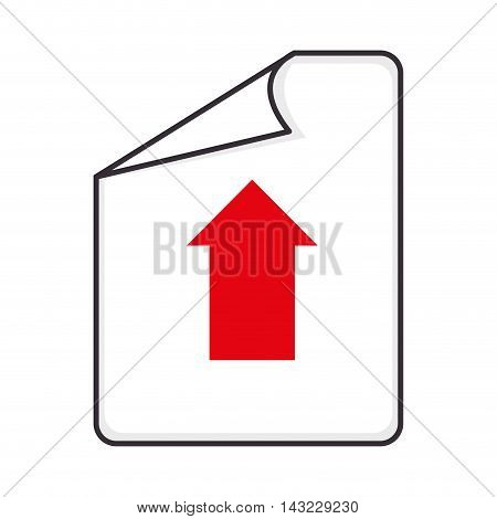 paper arrow upload format type file document interface vector illustration