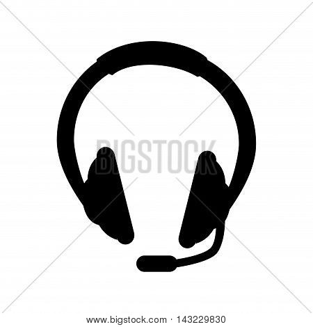headset headphone device technology microphone portable gadget vector illustration