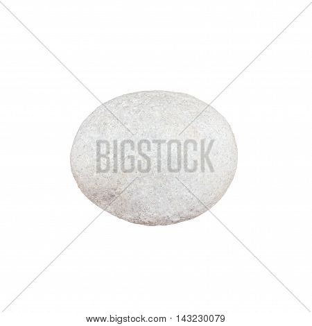 A Small stone on a white background