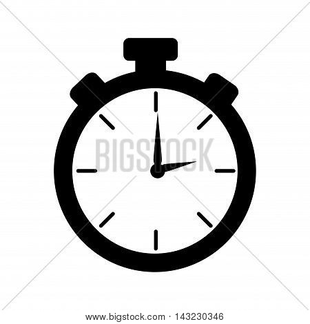 chronometer device time countdown counter button training vector illustration