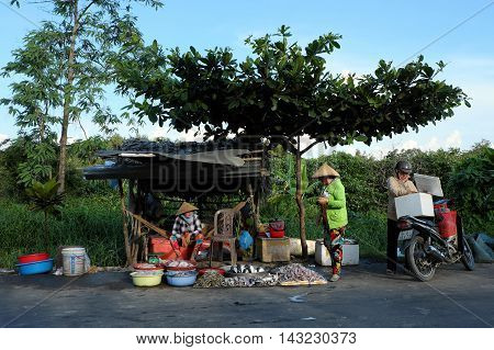 Food Stalls, Outdoor Fish Market