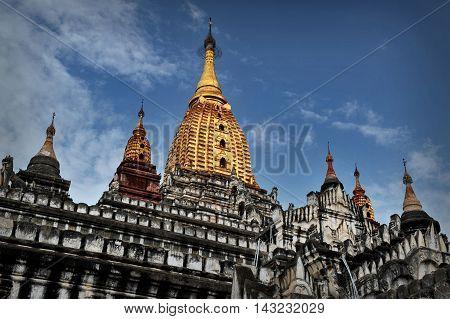 Ananda Temple in the town of Bagan, Myanmar
