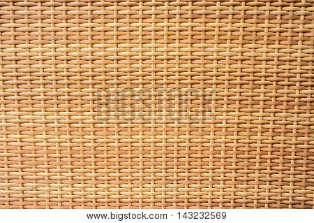 Old brown rattan texture and background pattern.