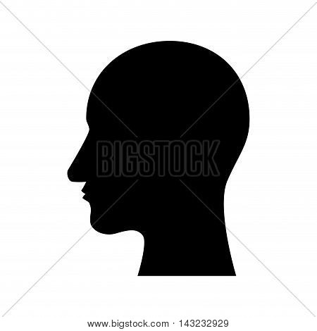 profile man person side silhouette connection corporate vector illustration