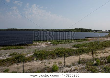 a Photovoltaic panels in a photovoltaic park