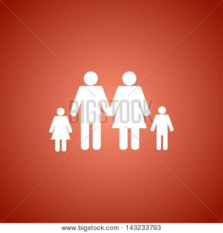 family icon and house. Conceptual vector illustration