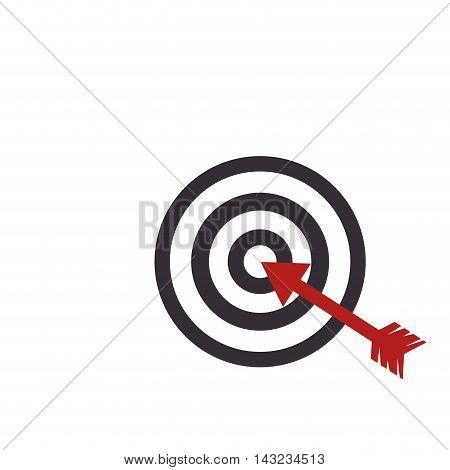 target arrow game center dart dartboard circle vector illustration
