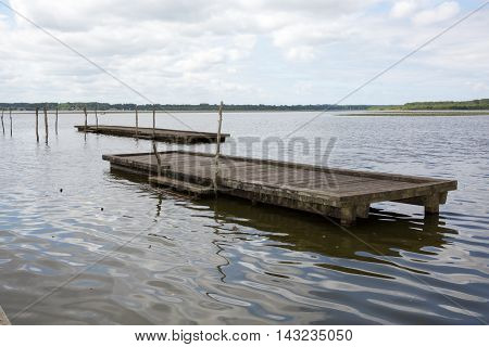 Wooden Footbridge in the middle of nowhere