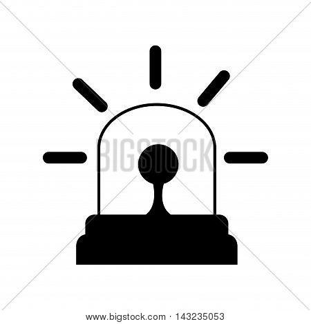 siren emergency light lamp bulb urgent alert vector illustration