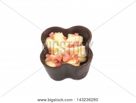chocolate candy dessert on a white background