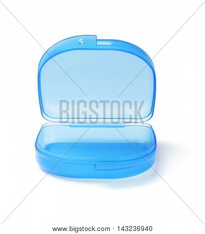 Plastic Storage Container For Small Object on White Background
