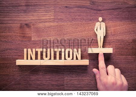 Successful manager has business intuition. Businessman with intuition has potential to growth.