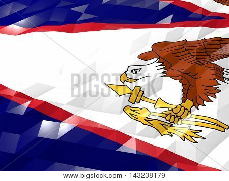 Flag Of American Samoa 3D Wallpaper Illustration