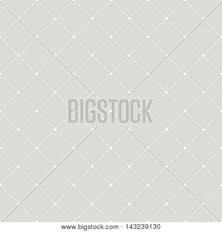 Geometric repeating vector pattern. Seamless abstract modern texture for wallpapers and backgrounds. Light silver pattern