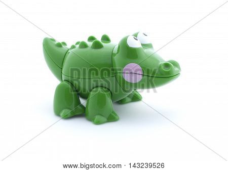 Toy Crocodile On A White Background