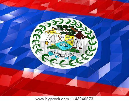 Flag Of Belize 3D Wallpaper Illustration