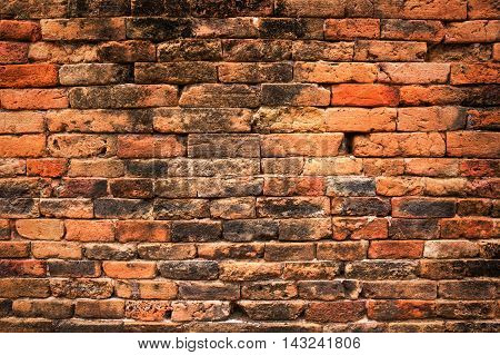 Backdrop of old brick wall texture for design pattern artwork.