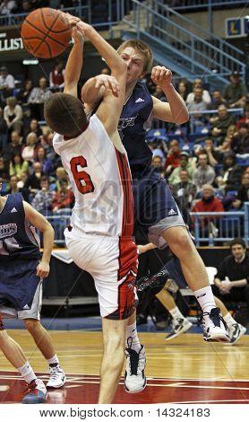 Basketball Boys Shot Block